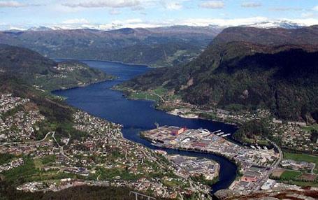 Førde blir kommunesentrum i den nye storkommunen i Sunnfjord. FOTO: Wikipedia