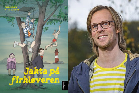 Christian Wiik Gjerde har du sikkert sett på NRK Super. Denne våren kom han med barnebok. Foto: Christian Raabe/Samlaget