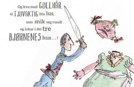 Roald Dahl ville vore 100 år gammal om han framleis levde, og er så aktuell for dagens unge som aldri før. Det vil Grethe FAtima Syéd vise i gjendiktinga si. Illustrasjon: Quentin Blake