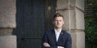 Mats Johansen Beldo, leiar i Norsk studentorganisasjon (NSO), krev meir pengar til studentane i statsbudsjettet for 2018.