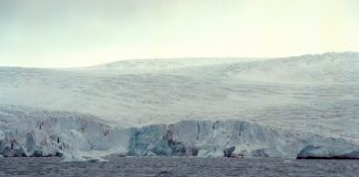 Norske isbrear smelter sakte, men sikkert bort. Bildet viser Nordenskiöldbreen i Isfjorden på Svalbard.