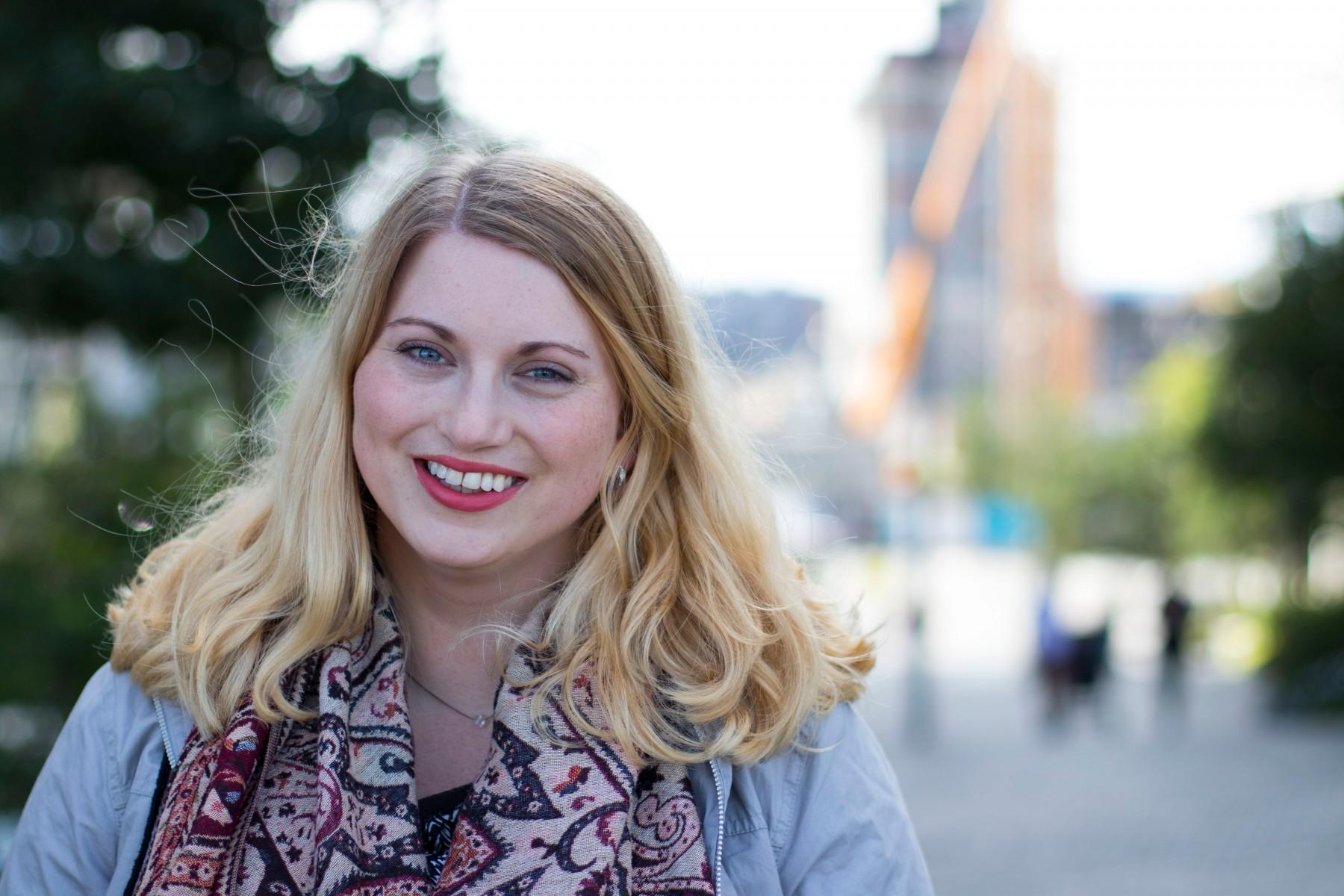 Martine Tønnessen er leiar i KrFU. Foto: KrFU