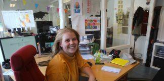 Leiar for hovudkomiteen i Operasjon Dagsverk, Sandra Skiaker, er godt nøgd med 117.000 påmelde til Operasjon Dagsverk. Foto: Runar B. Mæland