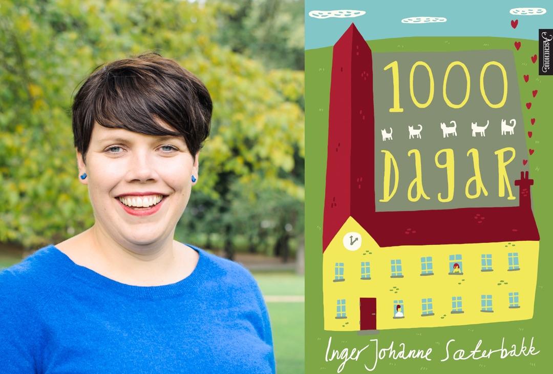 Omslag for boka 1000 dagar: Dramatisk og morosamt om den pinlige tida