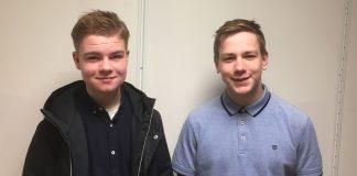 Felix L. Hammond (15) og Johannes Leidal (18) har vunne skrivekonkurransen til Framtida, Falturiltu og Magasinett.