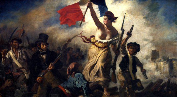 «Fridomen fører folket» av Eugène Delacroix.