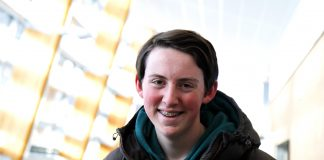 "Wilfred Lie (18) vart fotofrelst då han hadde arbeidsveke på ""Skal vi danse"". Foto: Beate Haugtrø"