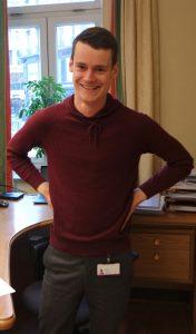 Tore Storehaug på kontoret sitt på Stortinget.