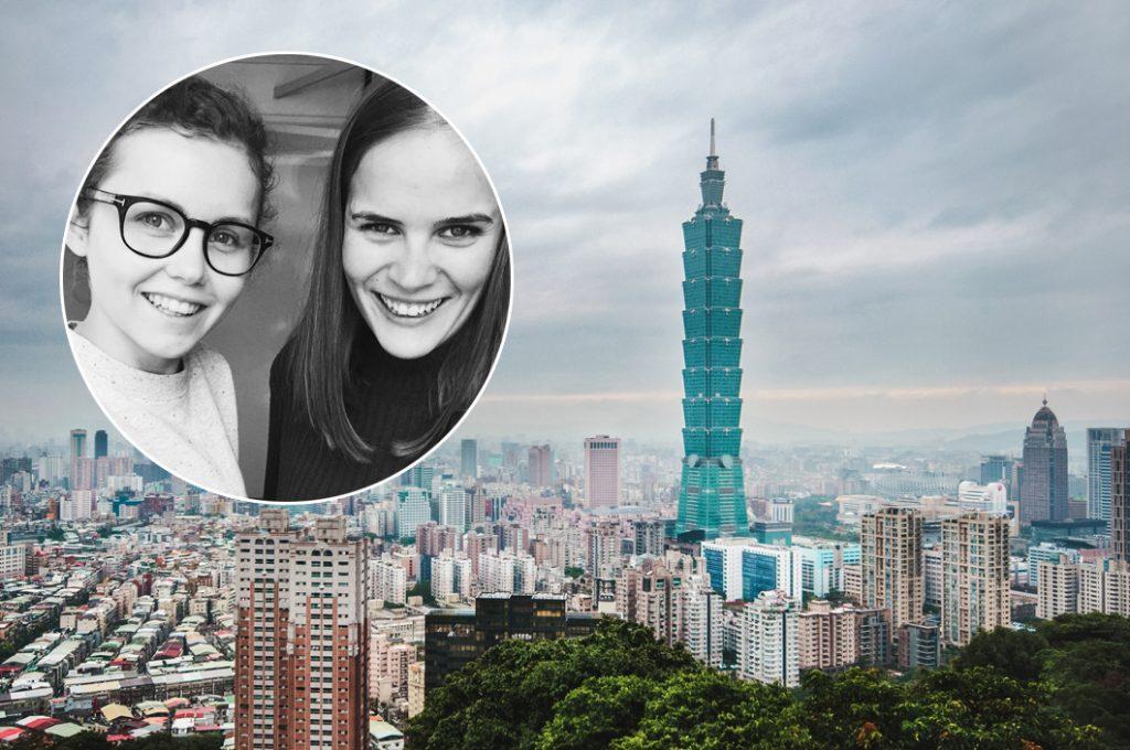 Fotograf Amanda O. Berg (til venstre) og journalist Ragnhild Sofie Selstø skal til Taipei for å skriva om den såkalla jordbærgenerasjonen i Taiwan.