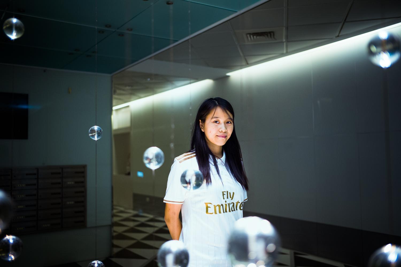 Jenny Chang (25) frå Taiwan vil ikkje la seg påverke av kinesiske krefter.