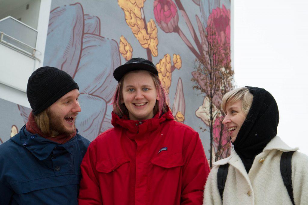 """Dom är javlig forbannad, hardcore som fan"", sa ein svensk Youtubar om Intetskjønn. f.v. Alexander Didriksen, Ida Charlotte Bratteberg Jakobsen, og Ragnhild Nelvik Bruseth. Foto: Beate Haugtrø"
