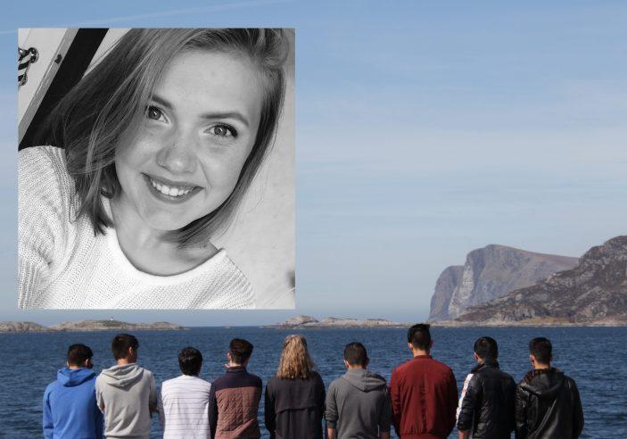 Emilie Hansen var 16 år da ho bestemte seg for å bli venn med gutane på asylmottaket i Fosnavåg. Foto: Christina Krogh Sande