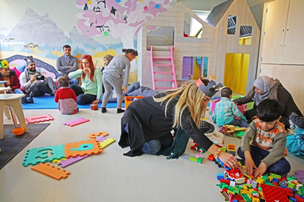 Barnerommet på Torshov Transittmottak etter oppussing. Foto: Makers`Hub