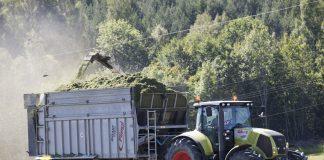 Lett lufttrykk i dekka på traktoren kan ha mykje å seia for å få ned dieselforbruket i landbruket. Foto: Terje Bendiksby / NTB scanpix / NP