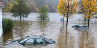 60 prosent av norske kommunar manglar kapasitet for å sikre seg mot skadar av overvatn som følgje av eit endra nedbørsklima. Foto: Kristian Vabo / NTB scanpix / NPK