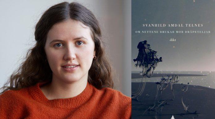 Diktsamlinga «Om nettene brukar mor dråpeteljar» er debutboka til Svanhild Amdal Telnes (f. 1994). Foto: Julie Pike