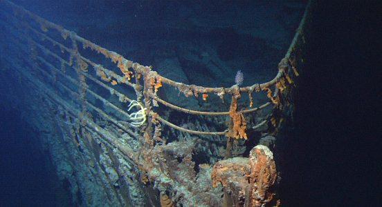 Vraket etter Titanic ligger 4000 meter under havet. Foto: Wikimedia Commons