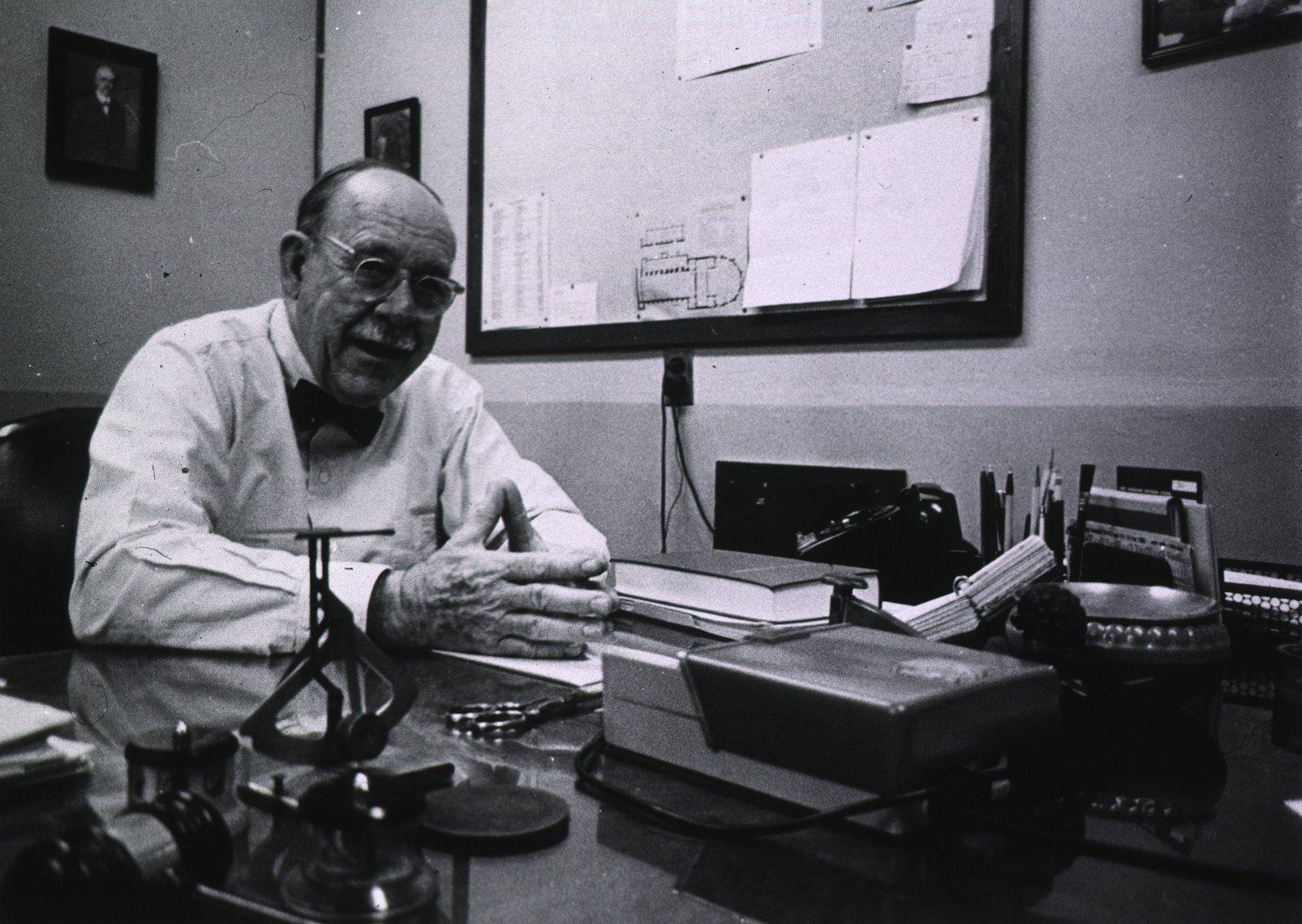 Professor Edwin G. Boring. Bilete er tatt i 1961.