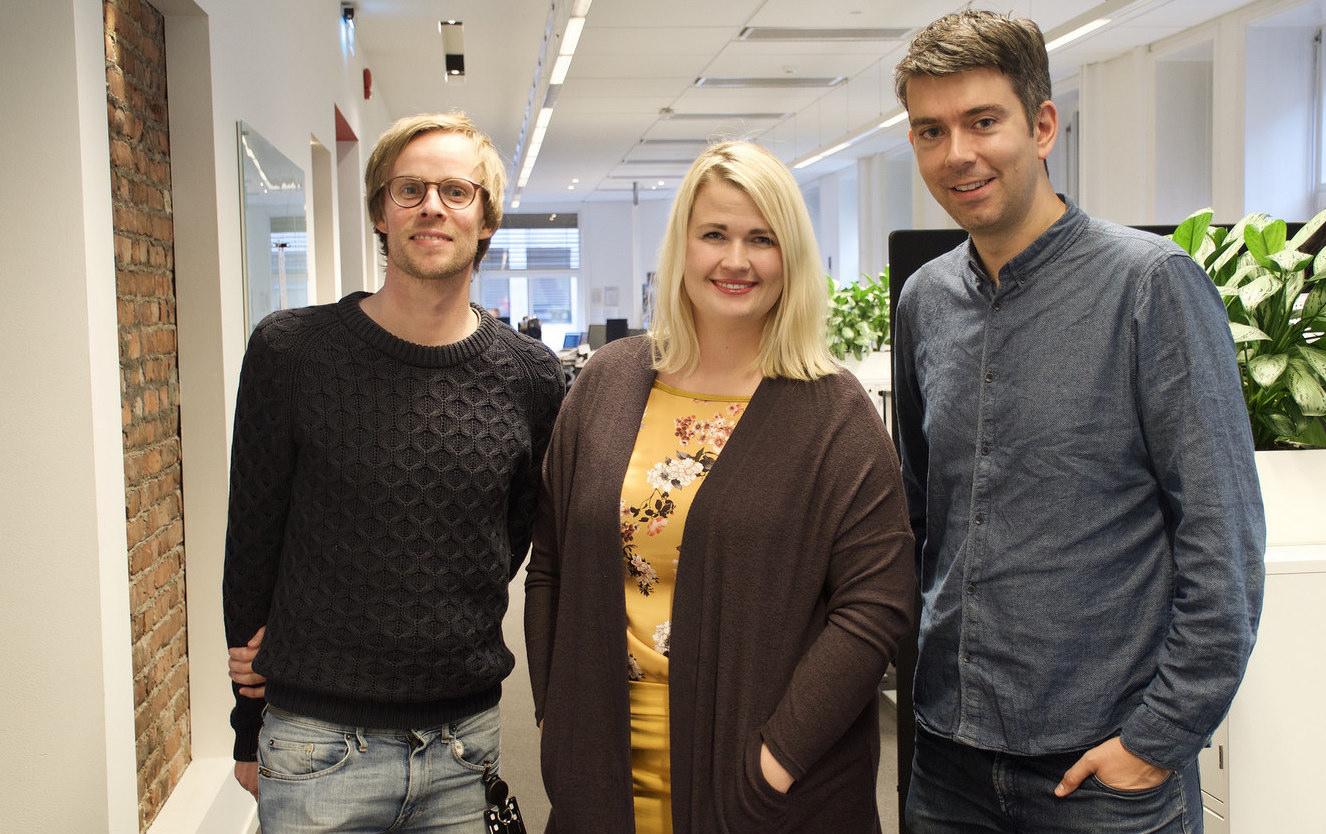 Christian Wiik Gjerde, Janne Nerheim og Svein Olav B. Langåker i Framtidajunior.no-redaksjonen.