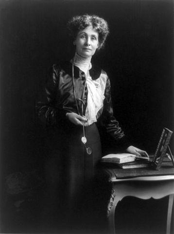 Emmeline Pankhurst fotografert av Matzene Studio i Chicago. Foto: United States Library of Congress's Prints and Photographs division
