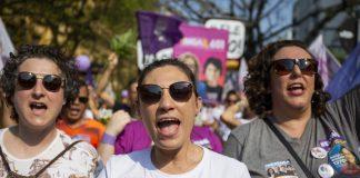 Laurdag 29. september vart det arrangert over 40 demonstrasjonar mot Jair Bolsonaro over heile Brasil under parolen #elenão (#ikkjehan). Foto: Caco Argemi CPERS / Sindicato