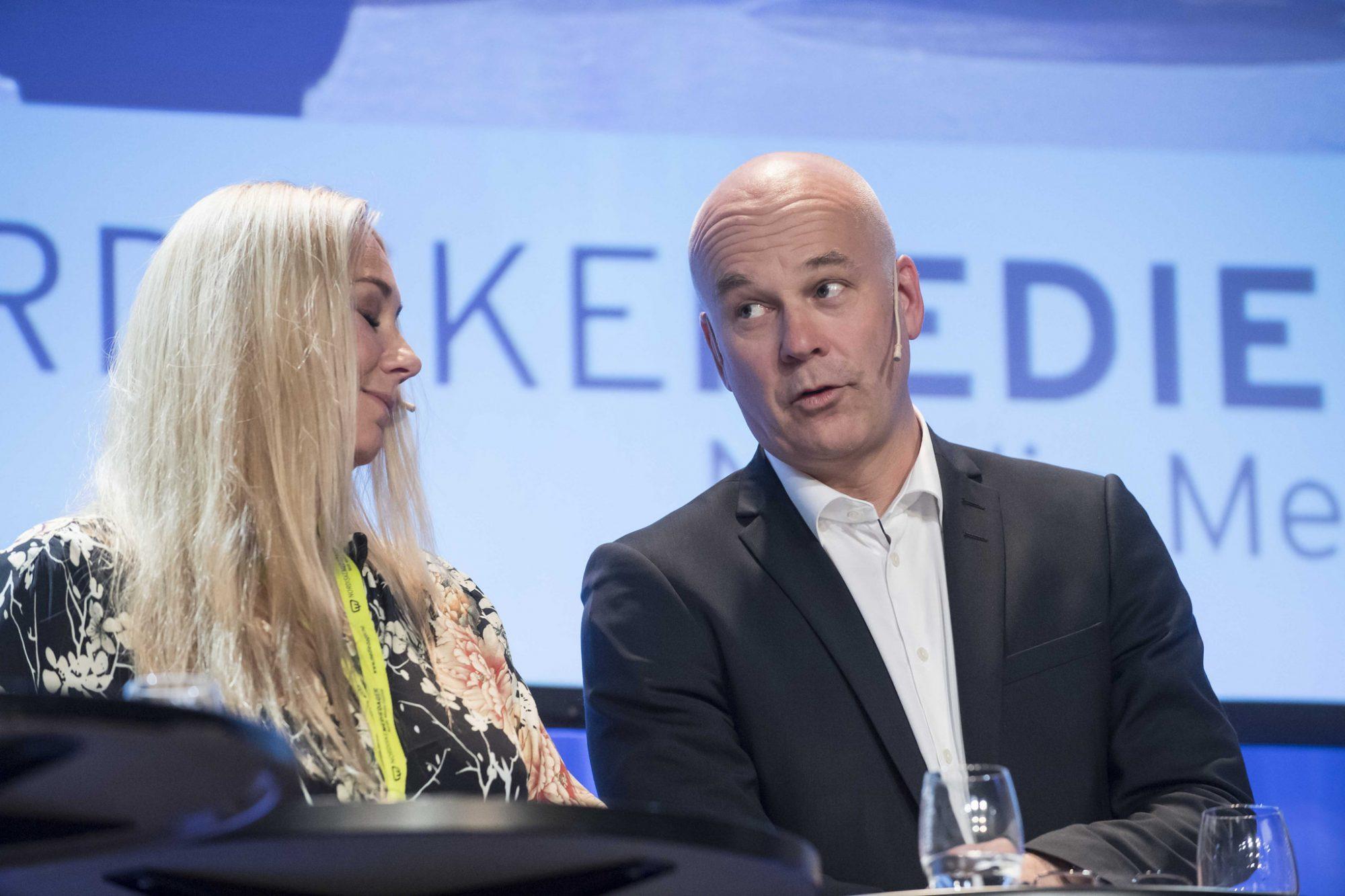 Thor Gjermund Eriksen lovar å fylle nynorskkvota i statskanalen i 2019. Foto: Nordiske Mediedager/Flickr/CC BY-SA 2.0