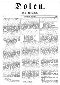 Slik såg framsida av første utgåve av Dølen ut.