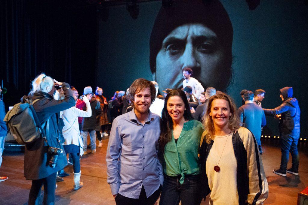 Anders Hasmo, Hedda Sandvig og Cicci Henriksen er i den kunsteriske styringsgruppa for Det Norske Teatret si avdeling på Rommen Scene. Foto: Beate Haugtrø