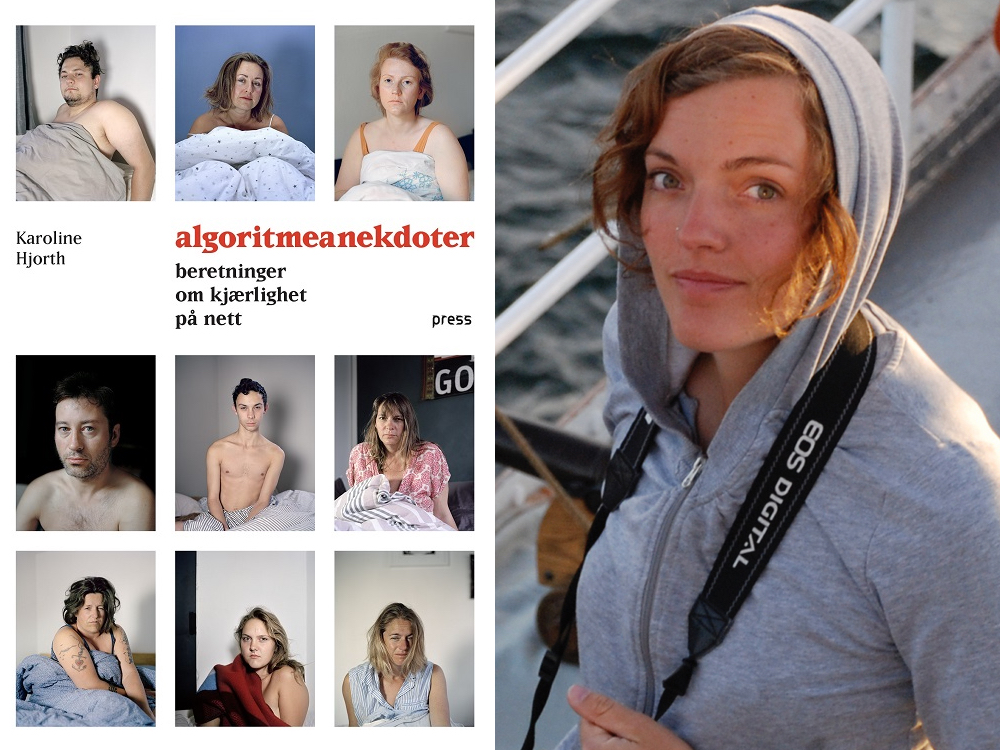 Omslag for boka «Algoritmeanekdoter»: Brutalt ekte om kjærleik på nett