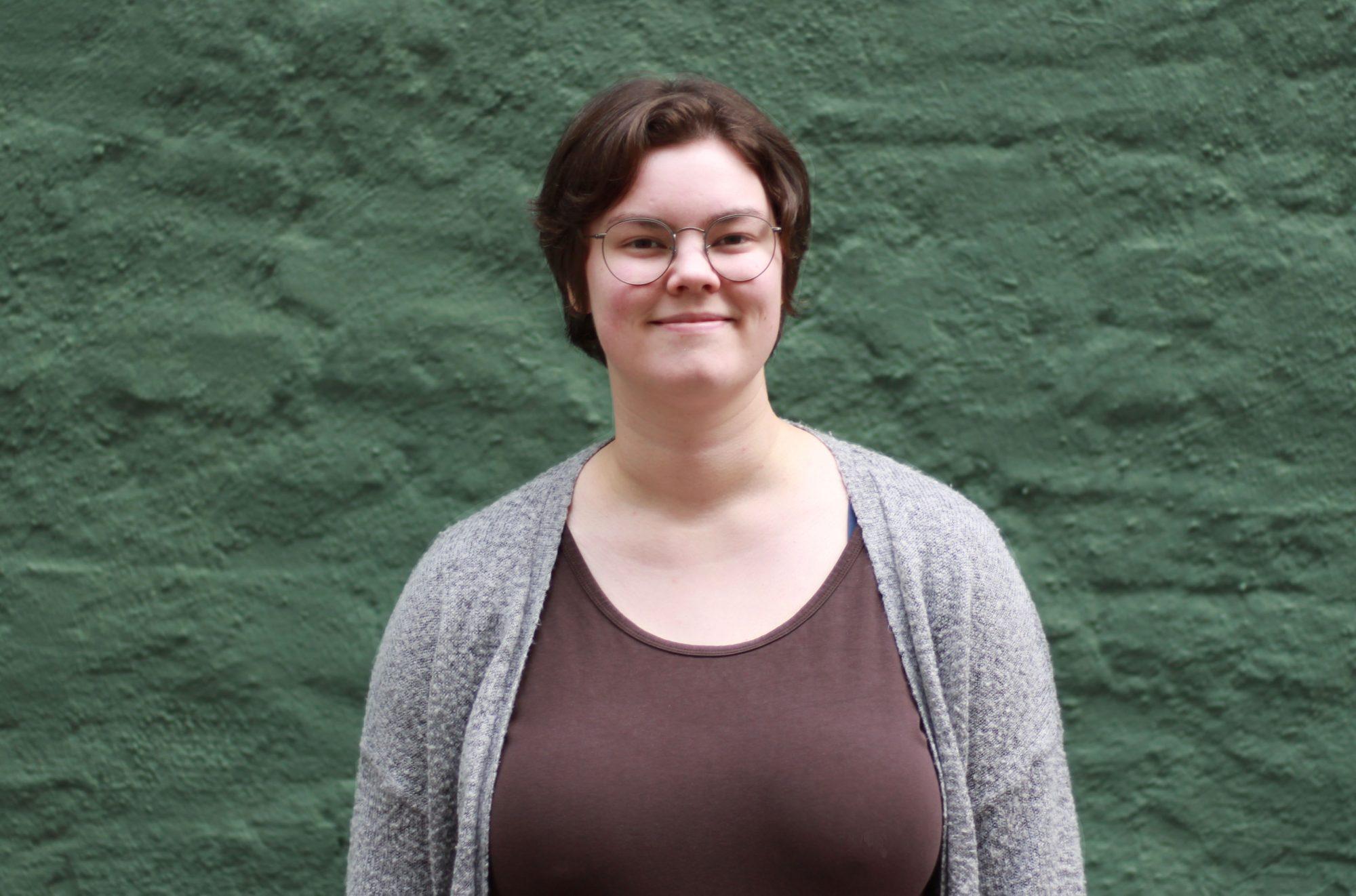 Gunnhild Skjold (23) frå Tromsø er leiar i Norsk Målungdom. Foto: Anna Sofie Ekeland Valvatne/NMU