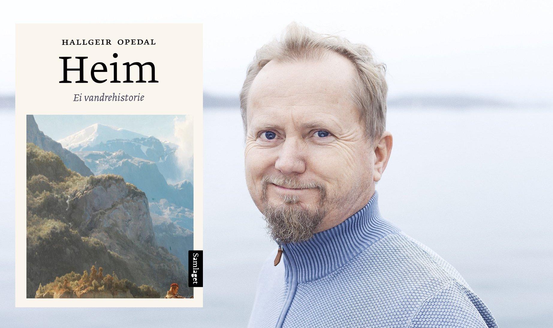 Omslag for boka Bokmelding: «Heim: ei vandrehistorie» av Hallgeir Opedal