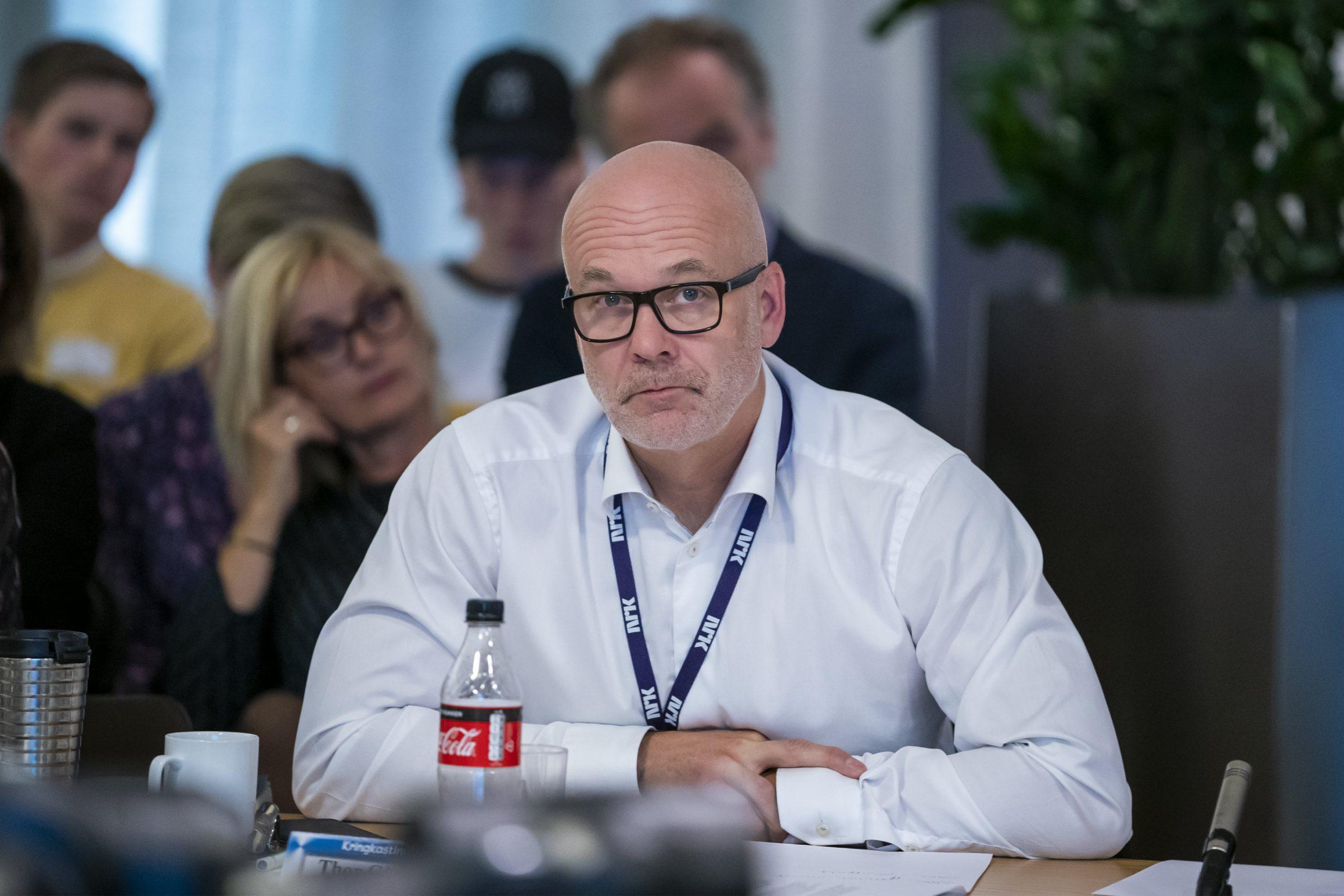 Kringkastingssjef Thor Gjermund Eriksen fortalde Kringkastingsrådet at kanalen ligg godt an til å klara kravet om 25 prosent nynorsk i NRK. Foto: Heiko Junge / NTB scanpix / NPK