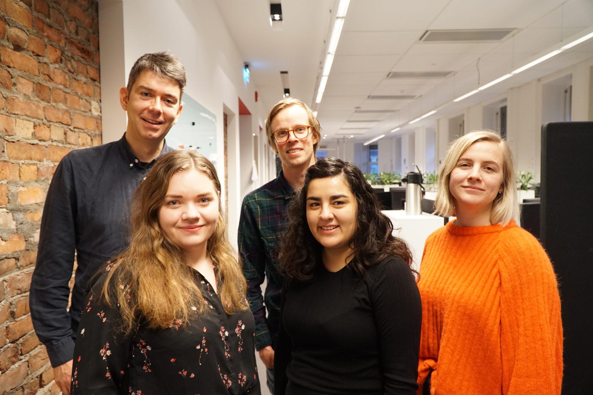 Framtida.no-redaksjonen (for tida på heimekontor kvar for seg): Svein Olav B. Langåker, Christian Wiik Gjerde, Bente Kjøllesdal, Ingvild Eide Leirfall og Andrea Rygg Nøttveit.