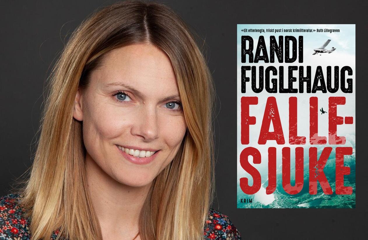 Omslag for boka Fallesjuke av Randi Fuglehaug: Morosam og vanskeleg å leggje frå seg