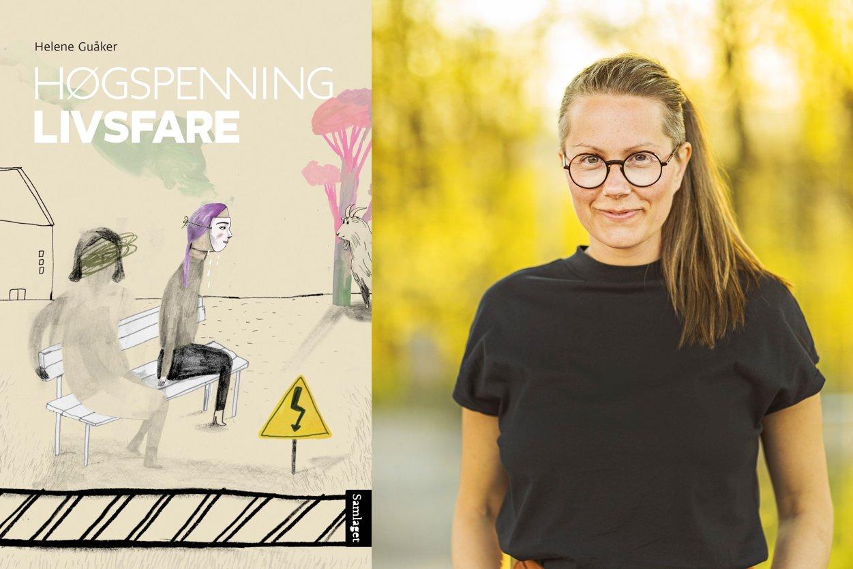 Omslag for boka Bokmelding: Med «Høgspenning. Livsfare» har Helene Guåker skrive ei av dei viktigaste ungdomsbøkene