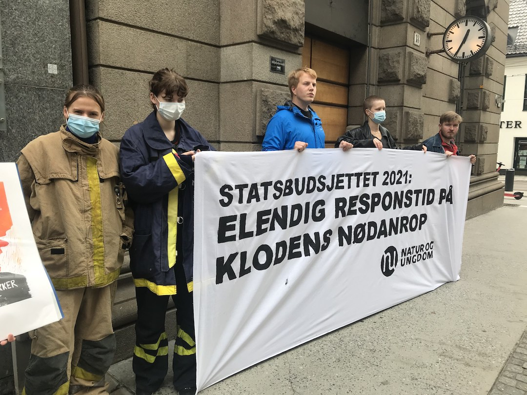 Natur og ungdom protesterer mot statsbudsjettet