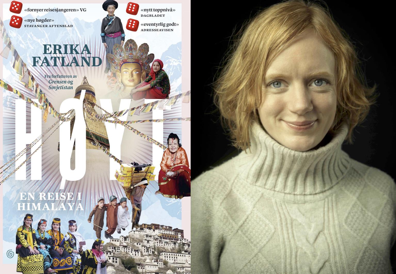 Omslag for boka Bokmelding: «Høyt» av Erika Fatland er ei levande reiseskildring, men…